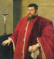 Portrait Of A Venetian Senator, Standing Beside A Table - (after) Domenico Tintoretto (Robusti)