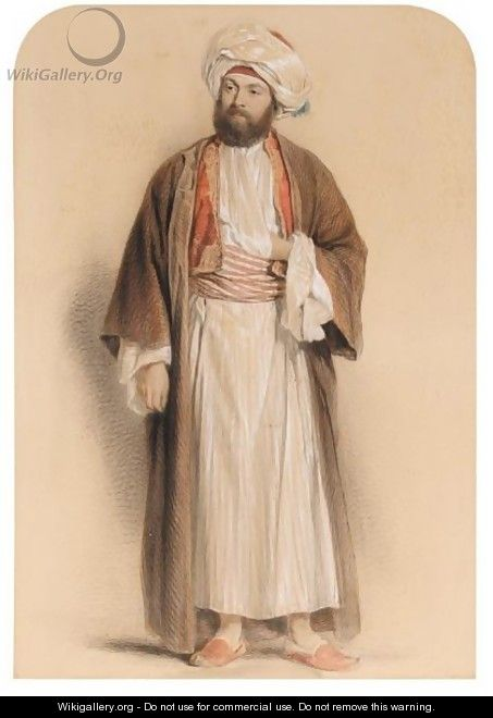 Portrait Of A Gentleman In Middle Eastern Dress - Sir John Gilbert