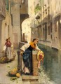 Fruit Sellers From The Islands, Venice - Henry Woods