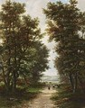 A Landscape With A Peasant Woman On A Country Road - Jan Hermanus Melcher Tilmes