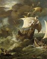 Shipping In A Storm - (after) Paul Bril