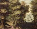 Landscape With The Death Of The Disobedient Prophet - (after) Gillis Van Coninxloo