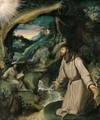 Saint Francis Receiving The Stigmata - (after) Girolamo Muziano