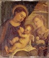 The Madonna And Child With Saint Agnes - Venetian School