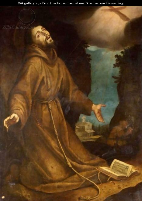 Saint Francis Receiving The Stigmata - (after) Lodovico Cardi Cigoli