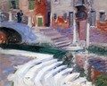 The Steps To The Canal, Venice - Francis Campbell Boileau Cadell
