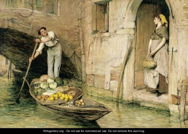 The Venetian Fruit Seller - Sir William Quiller-Orchardson