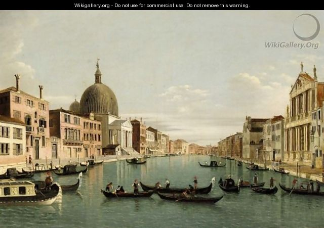 Venice, A View Of The Grand Canal Looking South West From The Chiesa Degli Scalzi To The Fondamenta Della Croce, With San Simeone Piccolo - (after) (Giovanni Antonio Canal) Canaletto