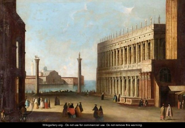 Venice, A View From The Piazzetta Looking South Towards San Giorgio Maggiore - Venetian School