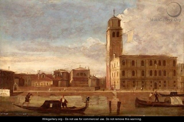 Venice, A View Of San Geremia On The Cannaregio Canal. - (after) (Giovanni Antonio Canal) Canaletto
