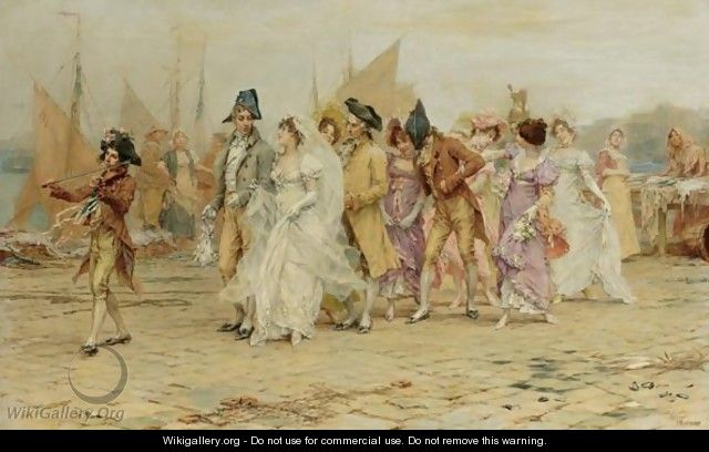 The Wedding Procession - Frederick Hendrik Kaemmerer