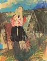 Peasant Woman In The Village - Philip Andreevich Maliavin