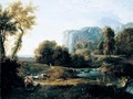 An Italianate Landscape With A Shepherd And Fishermen By A Stream Beyond - Nicolas-Didier Boguet