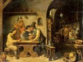 A Tavern Interior With Peasants Drinking Smoking And Merry Making - (after) David The Younger Teniers