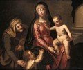 The Madonna And Child With The Infant Saint John The Baptist And Saint Anne - Venetian School