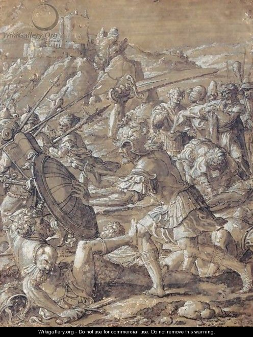 Roman Battle Scene - (after) Pieter Coecke Van Aelst