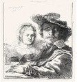 Self Portrait With Saskia 2 - Rembrandt Van Rijn