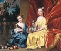 Portrait Of Catherine Sancroft (C. 1716-1780) And Her Sister Elizabeth (1714-1788) - James Francis Maubert