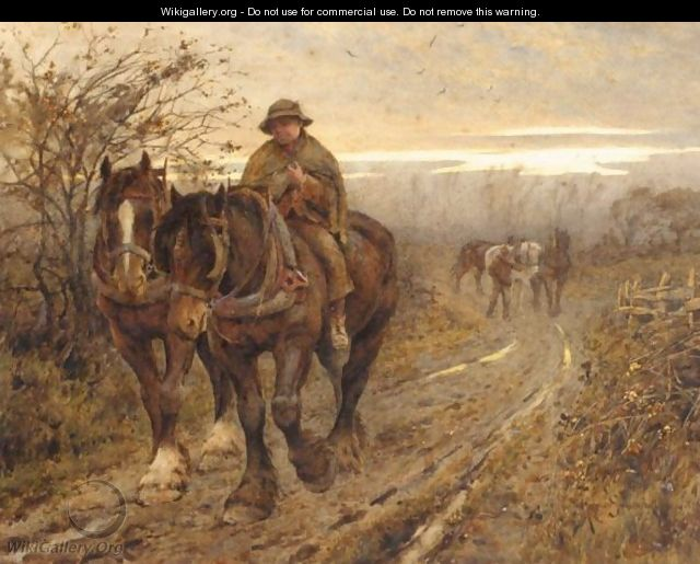 The Weary Beasts Returning Frae The Plough - Harold Swanwick