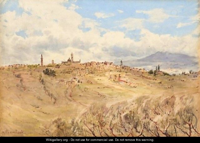 A View Of Siena, Italy - Herbert Moxon Cook