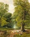 A Shepherd And His Flock - Frederick William Hulme