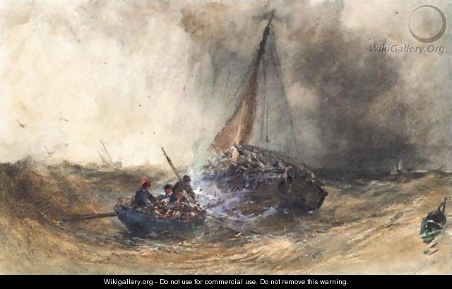 Shipping In A Storm - William Callow