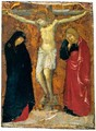 The Crucifixion With The Madonna And Saint John The Evangelist - Sienese School