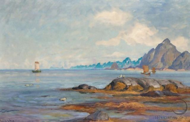 Boats At The North Cape - Thorolf Holmboe