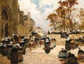 The Market At Concarneau - Fernand Marie Eugene Legout-Gerard