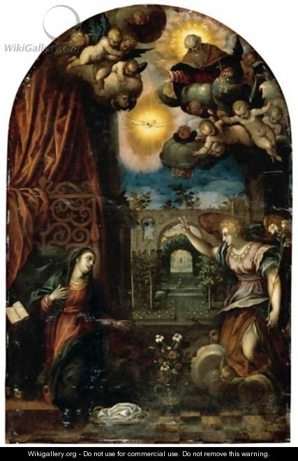 The Annunciation To The Virgin - (after) Hans I Rottenhammer