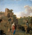 Landscape With The Expulsion Of Hagar And Ishmael - Cornelis Van Poelenburgh