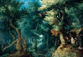 Wooded Landscape With Saints Anthony And Paul The Hermit Assailed By Demons - Gillis van Coninxloo