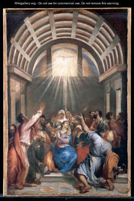 The Descent Of The Holy Ghost (Pentecost) - Venetian School