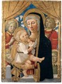 The Virgin And Child With Attendant Angels - Italian Unknown Master