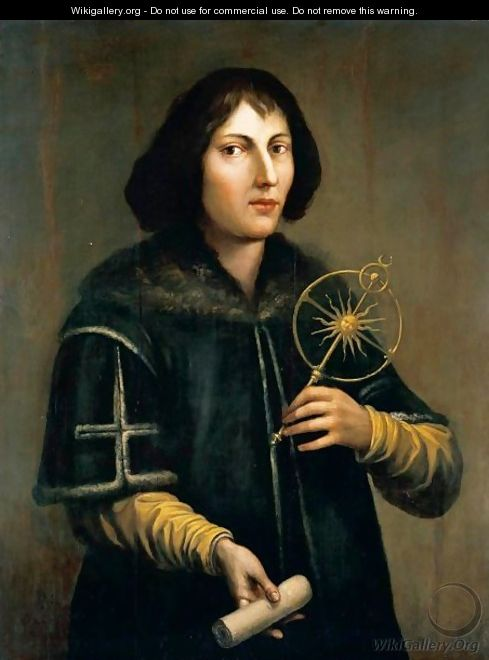 Portrait Of Nicolas Copernicus (1473-1543), Three-Quarter Length, Holding An Astrolabe And A Rolled Parchment - Italian School
