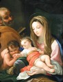 The Holy Family With The Infant Saint John The Baptist - (after) Bartolomeo Giuseppe Chiari