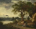 A Pastoral Landscape With A Shepherdess Guarding Her Sheep - Johann Melchior Roos