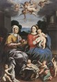 The Madonna And Child Together With Saint Anne And Putti - German School