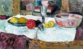 Still Life With Fruit On A Table - George Leslie Hunter