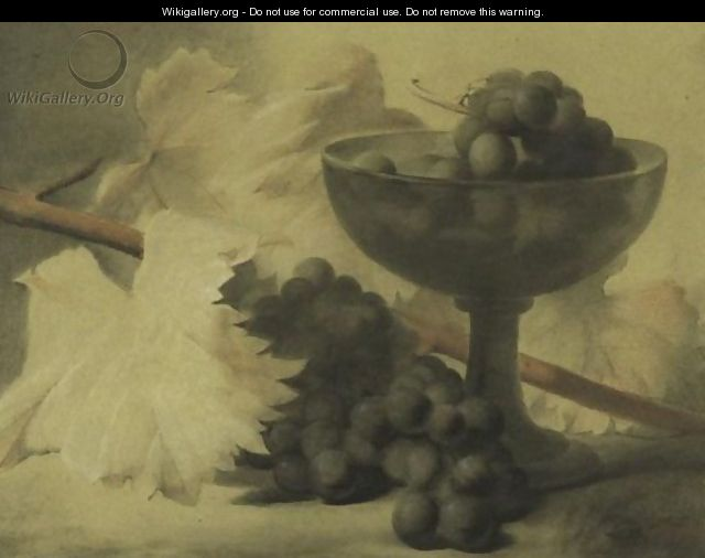 Still Life With Grapes - Antoine Berjon