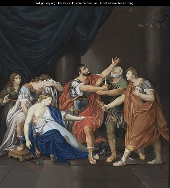 Death Of Lucretia - Italian School
