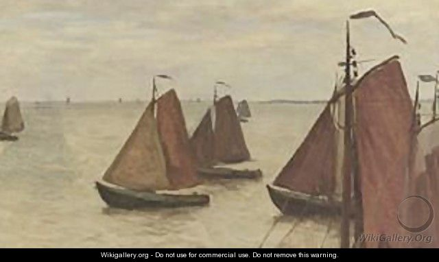 Sailing Boats On The Zuiderzee - Willem Bastiaan Tholen