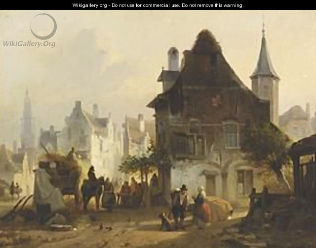 A Busy Day In Antwerp - Jan Michael Ruyten
