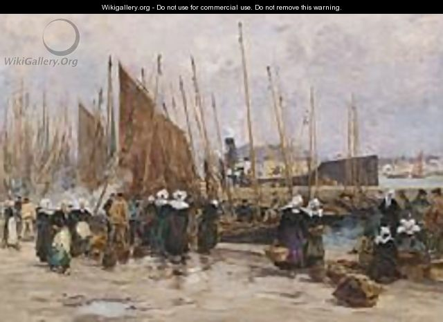 A Fish Market In Brittany - Fernand Marie Eugene Legout-Gerard