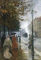 Elegant Figures In The Streets Of Kassel - Theodor Matthei