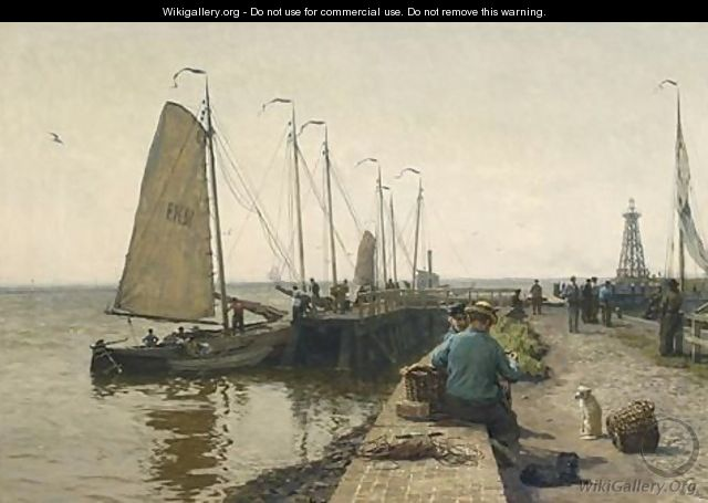 Moored Fishing Boats In Enkhuizen Harbour - Willem Bastiaan Tholen