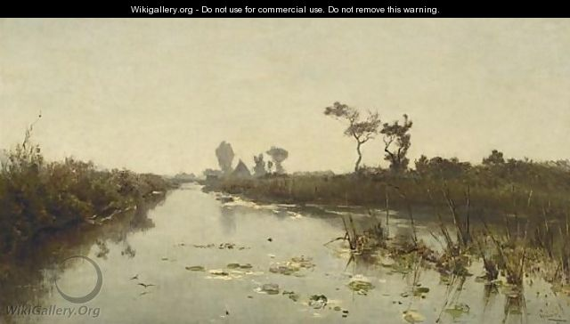 A View Of The Tolboomsloot, Kortenhoef - Paul Joseph Constantine Gabriel