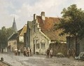 Villagers In The Streets Of A Dutch Town 4 - Adrianus Eversen