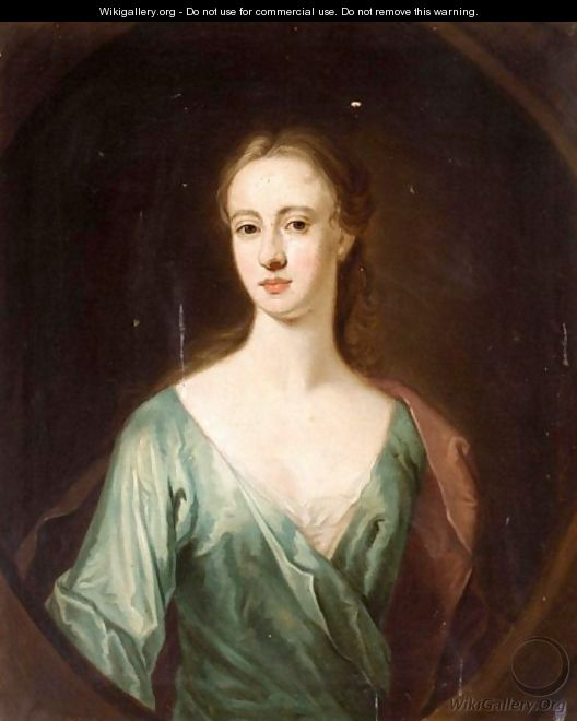 Portrait Of A Lady, Said To Be Mrs Mcfarlane, Daughter Of Lord Halbett Of Pitfirrane - (after) William Aikman