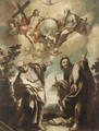 Saint Peter And Saint Paul, With The Celestial Host Above - (after) Sebastiano Ricci